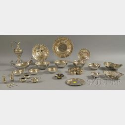 Large Group of Mostly Silver Tableware