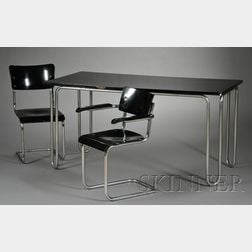 Dining Table and Two Chairs Attributed to Mart Stam (1899-1966)