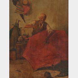 Anglo/American School, 19th Century      Craftsman Repairing an Umbrella.