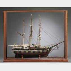 Cased Scratch-built Model of the New Bedford Whaler JAMES ARNOLD