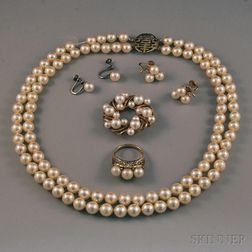 Small Group of Pearl Jewelry