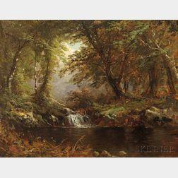 Alfred Thompson Bricher (American, 1837-1908)      Catskill Swimming Hole