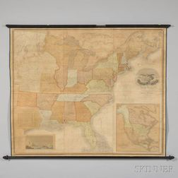 United States. David H. Vance (fl. circa 1825) Map of the United States of North America Compiled from the Latest and Most Authentic In