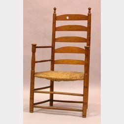 Ash and Maple Slat-back Armchair.