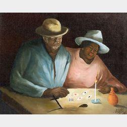 Louverture Poisson (Haitian, 1914-1985)    Reading the Cards