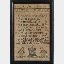 Small Needlework Sampler