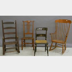 Six Assorted Wood Chairs