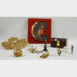 Nine Assorted Mostly Metal Decorative Items