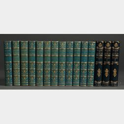 Decorative Leather Bindings, Sets, Fifteen Volumes.