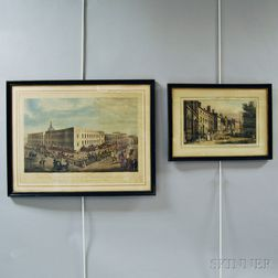 Two Framed Hand-colored Engravings