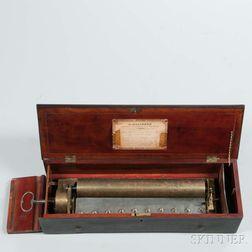 Alphonse Malignon Key-wind Cylinder Musical Box