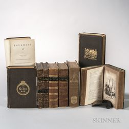 Literature, 19th Century, Seven Titles in Nine Volumes.