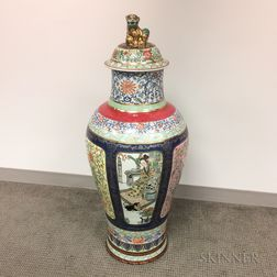Polychrome Enameled Palace Jar and Cover