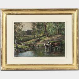 James Brade Sword (American, 1839-1915)      On the Upper Brandywine Creek