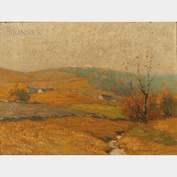 Bruce Crane (American, 1857-1937)      Golden Afternoon, Mohawk Valley