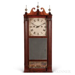 Ives Reeded Pillar & Scroll Shelf Clock