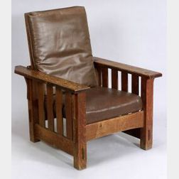 J.M. Young Oak Morris Chair