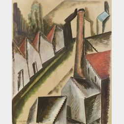 Ossip Zadkine (Russian/French, 1890-1967)  Factory View