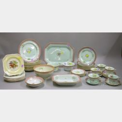Forty-six Piece Adams Calyx Ware Partial Dinner Service and a Set of Seven Johnson Bros. Transfer Old English P...