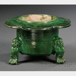 Green Glazed Brazier