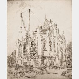 Joseph Pennell (American, 1860-1926)      The Choir (Washington Cathedral)