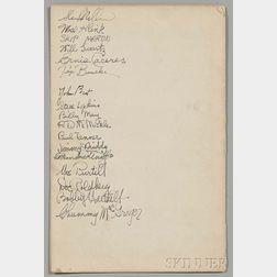 Miller, Glenn (1904-1944) Glenn Miller's Method for Orchestral Arranging  , Signed by Miller and Sixteen Band Members.