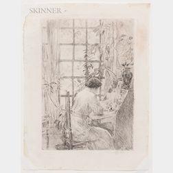 Childe Hassam (American, 1859-1935)      The Writing Desk