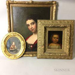 Three Framed Portraits of Girls