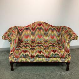 Kittinger Chippendale-style Upholstered Camel-back Sofa