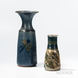 Two Michael Cohen Pottery Vases