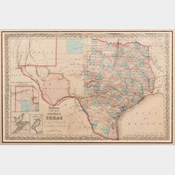 Colton's New Map of the State of Texas Compiled from J. De Cordera's Large Map.