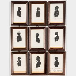 Nine Silhouettes of Gentlemen