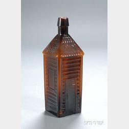 "Amber Glass ""Old Homestead Wild Cherry Bitters"" Bottle"