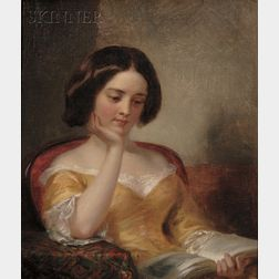 George Augustus Baker, Jr. (American, 1821-1880)      Young Woman Reading