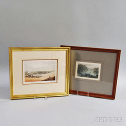 Two Framed River Scene Prints