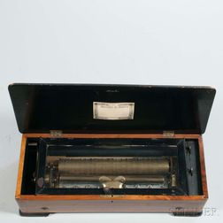 Lever-wind Cylinder Musical Box