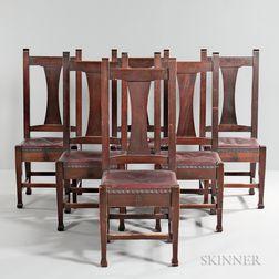 Six Roycroft Dining Chairs