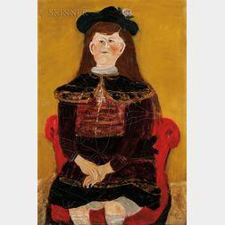 Nicholas Vasilieff (American/Russian, 1892-1970)      Girl in Red