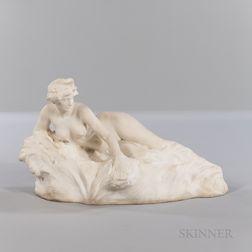 "Francois-Raoul Larche (French, 1860-1912)       Susse Fres Marble Depiction of La Baigneuse  , ""The Bather,"""