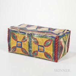 Plains Painted Parfleche Box