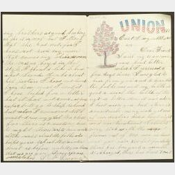 Group of Civil War Manuscript Paper
