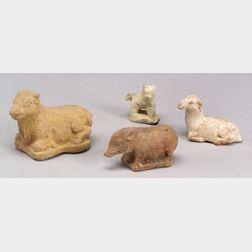 Four Ceramic Tomb Figures