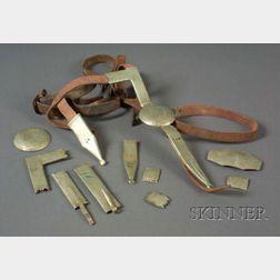 Plains German Silver Bridle Parts