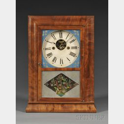 Silas B. Terry Mahogany Reverse Ogee Cottage Clock