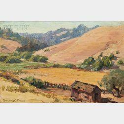 Benjamin Chambers Brown (American, 1865-1942)      Brown Hills on the Russian River