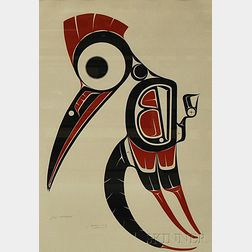 Art Thompson (Canadian/Nuu Chah Nulth, 1948-2003)      Woodpecker