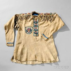 """Northern Plains Beaded Hide """"Scout"""" Shirt"""