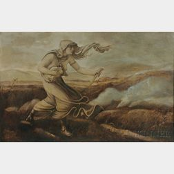 Elihu Vedder (American, 1836-1923)      Cumaean Sibyl in the Wilderness