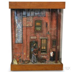 Large Diorama of Leroy and Bertha's Bar and Grill