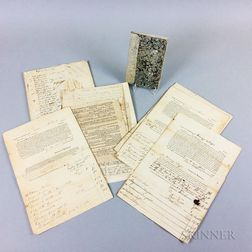 Small Group of 19th Century Vermont Letters and Documents